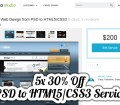 5x 30% Off PSD to HTML5/CSS3 Service from Ahmad Hania