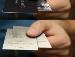 Free Business Card, Credit Card, Hand Mockup