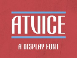 ATViCE Free Display Font