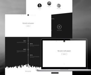 B&W Free Website Template