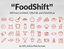 FoodShift Icon Set: 100 Free Food & Drink Icons