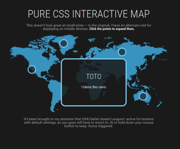 Pure CSS Interactive Map