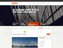 Everal Free Responsive WordPress Theme