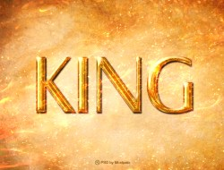 King - Text Effect