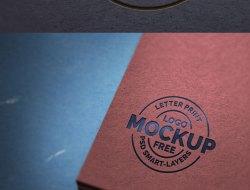Paper Letterpress Logo Mockup