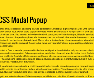Pure CSS Modal Popup