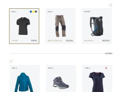 Trekking Store Free Website Template