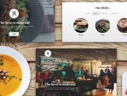 Free Restaurant Landing Page UI Kit