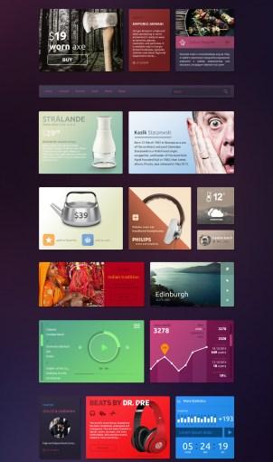 Colorful Tiles UI Kit