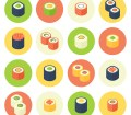 How to Create a Flat Design Rolled Sushi Icon Set in Adobe Illustrator