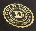 Free Gold Foil Logo Mockup
