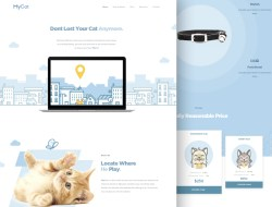 Mycat Free Landing Page Website Template