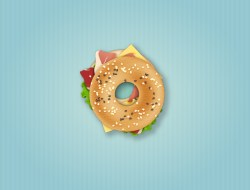 How to Create a Delicious Bagel Sandwich Icon in Adobe Illustrator