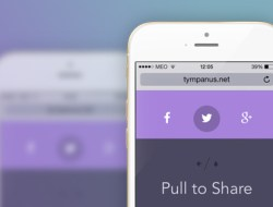 """Mobile """"Pull to Share"""" Interaction Experiment"""