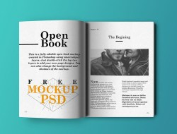 Open Book Free Mockup