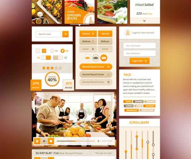 Delicious Recipe UI Kit
