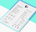 Free Resume Template with CV Icons