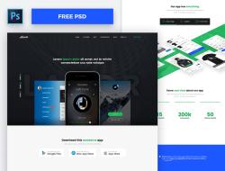 Landr - Free Web & Mobile PSD Template