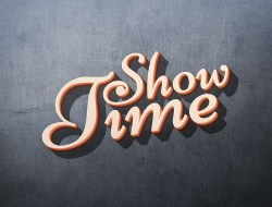 Showtime Free 3D Text Effect