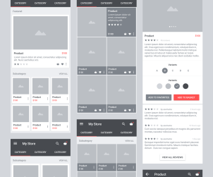 CARBON Material Wireframe UI Kit