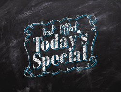 Chalkboard Free Text Effect
