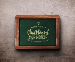 Free Chalkboard Sign Mockup