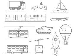 Free Transit Icon Set