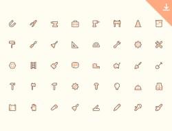 40 Free Tools Icons