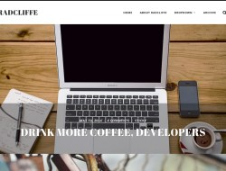 Radcliffe Free WordPress Theme for Writers