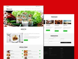 Restaurant Free Responsive WordPress Theme