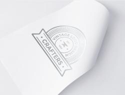 Silver Foil Logo Mockup