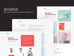 Avana - Minimal Portfolio Template Built with Bootstrap