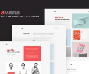 Avana - Minimal Portfolio Template Built with Bootstrap