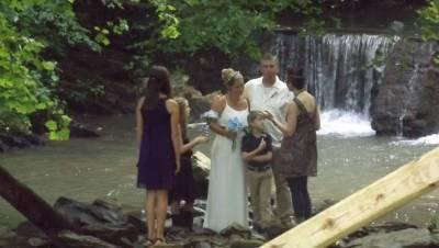 Wedding in back