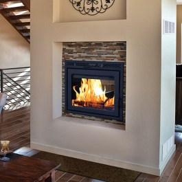 Supreme Wood Fireplace Duet Burning