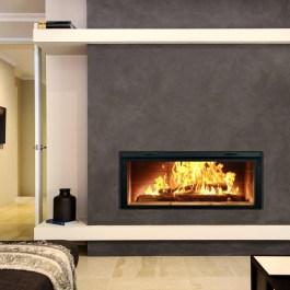 Renaissance RL50 Linear Wood Fireplace Modern Front