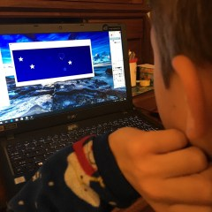 Learning some graphics tools is only empowering him even more.