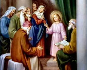 child Jesus in the temple