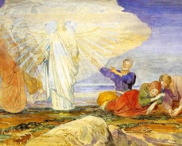 Transfiguration Jesus Moses Elijah Peter James John