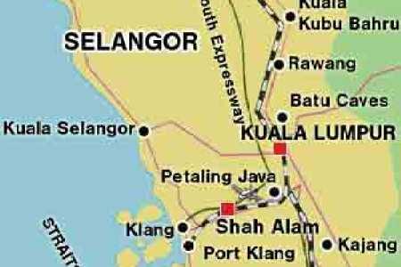Image result for Kuala Kubu Bharu Map