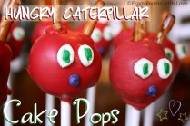 Hungry Caterpillar Cake Pops