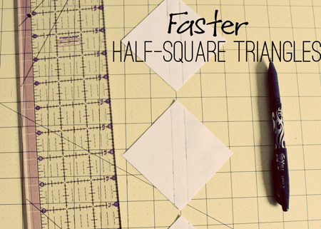 Faster Half Square Triangles Tutorial from Marta with Love Tutorials