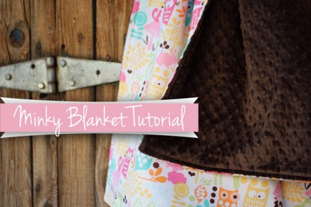 Minky Blanket Tutorial from Marta with Love 2 Tutorials