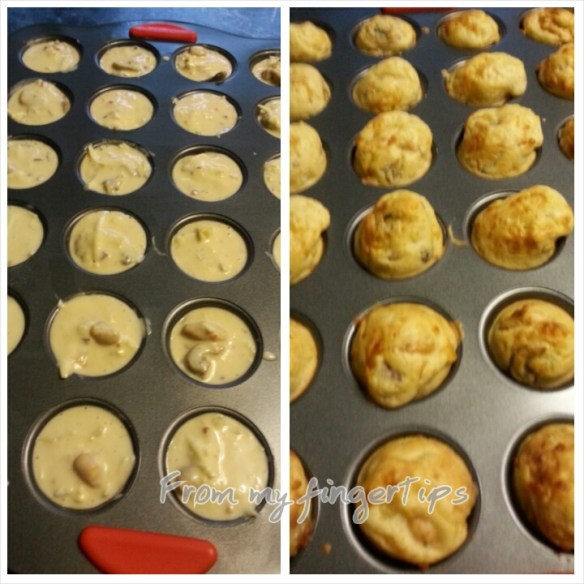 Before and after baking