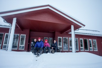 Snow Mobiling with Our Boatmen