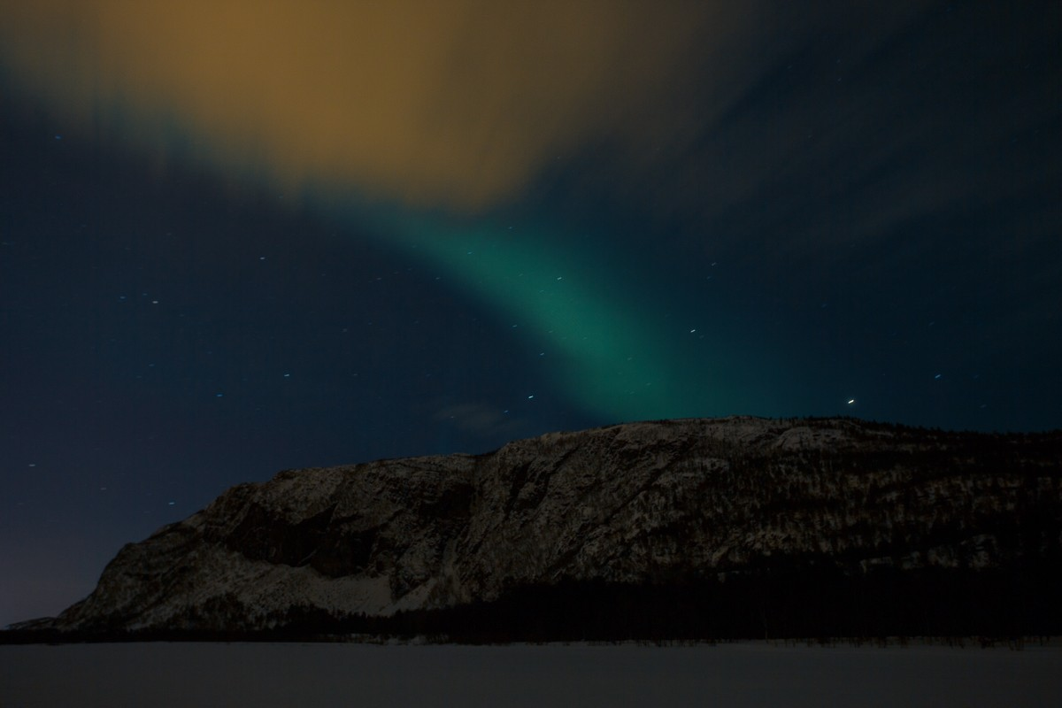 Northern Lights over the Alta River