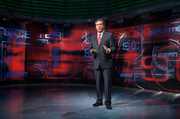 "SportsCenter. here anchored by Steve Levy, is sure to be part of the move toward more ""personalization"" for fans in 2013. (Joe Faraoni / ESPN Images)"