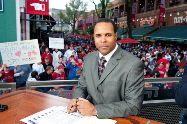 ESPN's Barry Larkin on the Baseball Tonight set. (Joe Faraoni/ESPN Images)