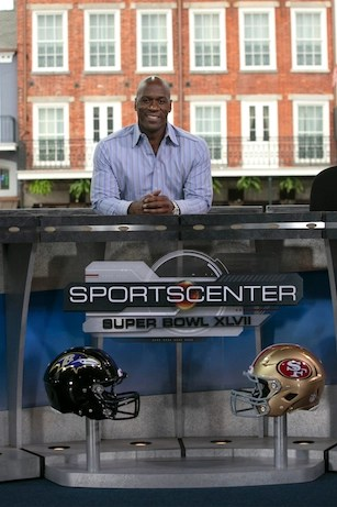 ESPN.com writer Jeffri Chadiha during ESPN's coverage of Super Bowl XLVII. (Don Juan Moore/ESPN Images)