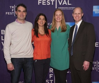 (l-r) ESPN Films VP Connor Schell, espnW VP Laura Gentile, Nine for IX producer Libby Geist and ESPN Films EP John Dahl.